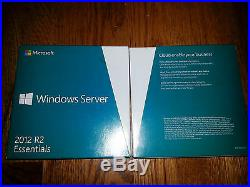 Microsoft Windows Server 2012 R2 Essentials, 64Bit, Full Retail Box, Factory Sealed
