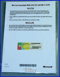 Microsoft Windows Server 2012 R2 Essentials Deutsch, Englisch Fujitsu ROK