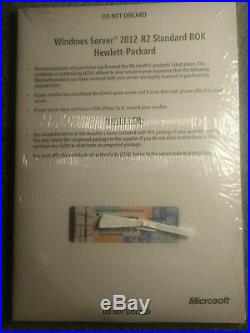 Microsoft Windows Server 2012 R2 Standard 64-bit DVD & License Oem P/n P73-06165