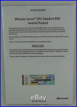 Microsoft Windows Server 2012 Standard HP ROK 2CPU/VM MUI NEU 701905-A22 Deutsch