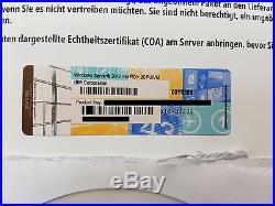 Microsoft Windows Server 2012 Standard IBM ROK 2CPU/VM Deutsch