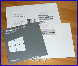 Microsoft Windows Server 2012 Standard Vollversion DSP OEM inkl. DVD + COA