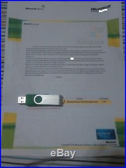 Microsoft Windows Server 2012r2 Datacenter (4CPU) with 25 CAL w. ORIG CERT