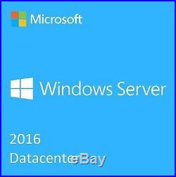 Microsoft Windows Server 2016 DATACENTER 16 Core (2-CPU) License + 10 USER CAL's