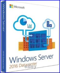 Microsoft Windows Server 2016 Datacenter Retail Sealed 10 Cal