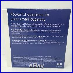 Microsoft Windows Server 2016 Essentials DVD 64-Bit EN Academic Edition NEW