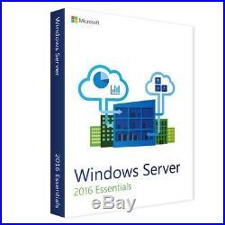 Microsoft Windows Server 2016 Essentials Vollversion