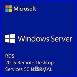 Microsoft Windows Server 2016 Remote Desktop Services 50 User Cal Esd Fattura