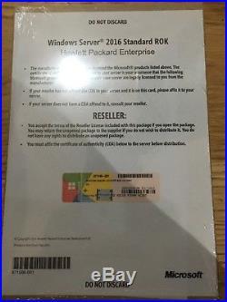 Microsoft Windows Server 2016 Standard (16-core) HPE ROK
