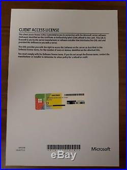 Microsoft Windows Server 2016 Standard 5 CAL USER / Benutzer / Nutzer Lizenz