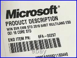 Microsoft Windows Server 2016 Standard License 64 Bit 16 Core License