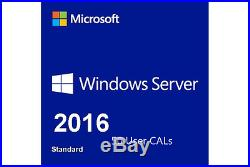Microsoft Windows Server 2016 Standard with 50 RDS User CALs