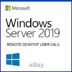 Microsoft Windows Server 2019 20 RDS User CAL CERTIFICATE 100% ORIGINAL