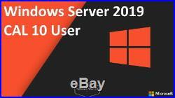 Microsoft Windows Server 2019 CAL 10 User Benutzer Nutzer Zugriffslizenz 10Cals