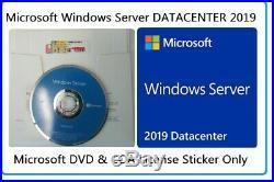 Microsoft Windows Server 2019 DATACENTER 2CPU 16CRS 64Bit DVD & COA UNlimted VMs