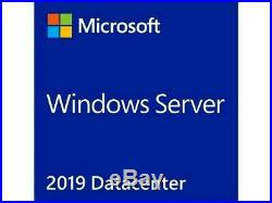 Microsoft Windows Server 2019 Datacenter 64Bit DVD 16 CORE with COA RDS 50 USERS