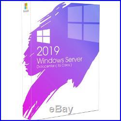 Microsoft Windows Server 2019 Datacenter/Core Edition 64-bit 32 Cores/ 50 Cals