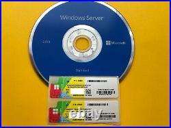 Microsoft Windows Server 2019 Datacenter DVD + COA 2 pcs