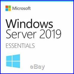 Microsoft Windows Server 2019 Essentials 1 Server Full Retail COA with MS USB
