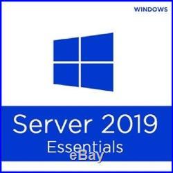 Microsoft Windows Server 2019 Essentials 64-bit 25 User Retail Certificate