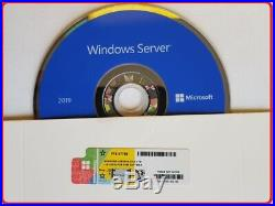 Microsoft Windows Server 2019 STANDARD 64BIT DVD/COA 16CORES + 50RDS USER CALs