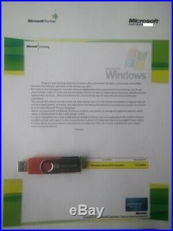 Microsoft Windows Server 2019 Standard 16 Core Retail License with COA & MS USB