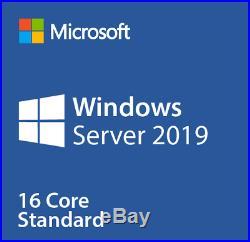 Microsoft Windows Server 2019 Standard 16 Core &/with 50 CALs