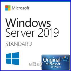 Microsoft Windows Server 2019 Standard 64bit Vollversion deutsch, english, etc
