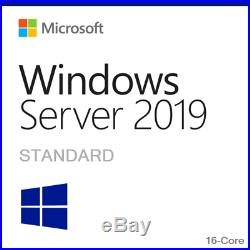 Microsoft Windows Server 2019 Standard Retail Sealed with 25 User CAL