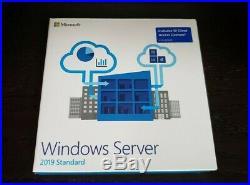Microsoft Windows Server 2019 standard 10 CALS BRAND NEW