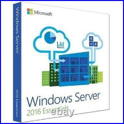 Microsoft Windows Server Essentials 2016 DSP DVD