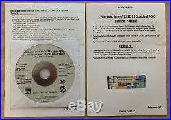 Microsoft Windows Server Standard 2012 R2 HP ROK DVD & COA 748929-B22