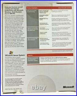 Microsoft Windows Small Business Server 2003 R2 Standard T72-01411 5CAL New