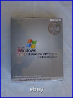 Microsoft Windows Small Business Server 2003 Standard RETAIL w' 5 CAL (Sealed)