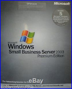 Microsoft Windows Small Business Server SBS 2003 Premium upgrade T75-00750