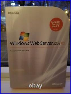 Microsoft Windows Web Server 2008 R2, SKU LWA 00984,64-Bit, Full Retail, Sealed Box