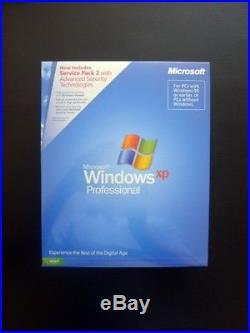 Microsoft Windows XP PROFESSIONAL PRO SP2 Full UK Retail E85-02667 (SEALED/NEW)