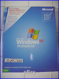 Microsoft Windows XP Professional Full withSP2 English Retail Version MS Pro=NEW=