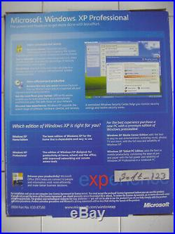 Microsoft Windows XP Professional withSP2 Full English Retail Version WIN MS PRO