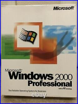Microsoft's Windows 2000 Professional Operating System New In Opened Box