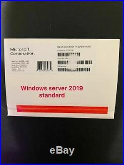NEW Brand New Microsoft Windows Server 2019 Standard