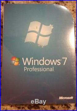NEW Microsoft Windows 7 Professional 32 and 64 Bit DVD FQC-00129 Sealed