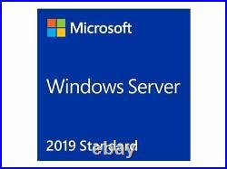 NEW Microsoft Windows Server 2019 x64 Standard Edition 24 Core OEM DVD P73-07807