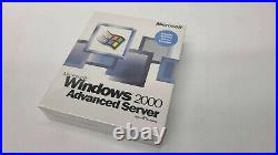 NEW SEALED MICROSOFT WINDOWS 2000 ADVANCED SERVER With 25 CLIENT ACCESS LICENSES
