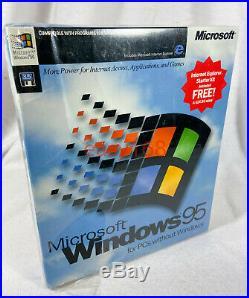 NEW SEALED MICROSOFT WINDOWS 95 OS Software 3.5 Floppy 1995 Retail USA D