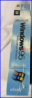 NEW SEALED MICROSOFT WINDOWS 95 OS Software 3.5 Floppy 1995 Retail USA Rare