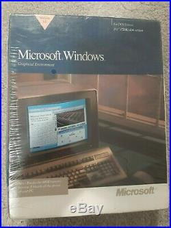 NEW SEALED Microsoft Windows 3.0 Operating System 3.5 Floppy Discs