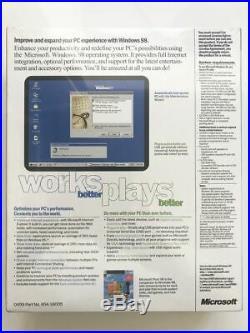 (NEW, SEALED) Microsoft Windows 98 Second Edition FULL