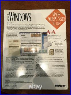 NEW original Microsoft Windows 3.1 OS sealed boxed from 1992 RARE