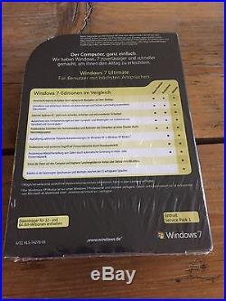Neuware. Windows 7 Ultimate SP1, Retail Vollversion, Deutsch mit MwSt Rechnung